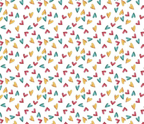 Confetti Hearts fabric by seasontree on Spoonflower - custom fabric