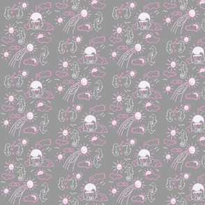 Seahorses You Are My Sunshine Pink and Grey