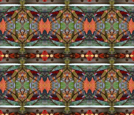 Rosella_feeding_in_Autumn fabric by tat1 on Spoonflower - custom fabric