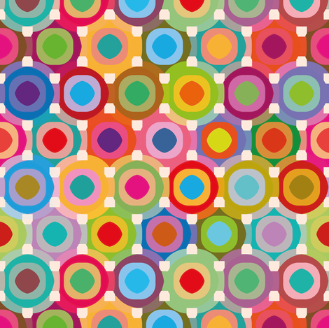 Circles fabric by cassiopee on Spoonflower - custom fabric