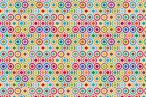 Colored circles fabric by cassiopee on Spoonflower - custom fabric