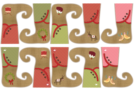 Christmas stockings fabric by laurawrightstudio on Spoonflower - custom fabric