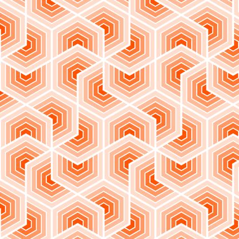02553554 : chevron 6 shells fabric by sef on Spoonflower - custom fabric