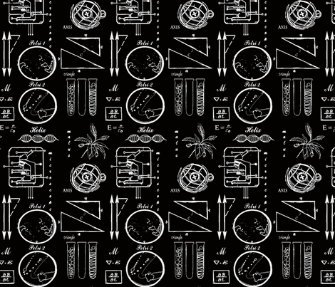 black-labwhite fabric by tailofthedog on Spoonflower - custom fabric