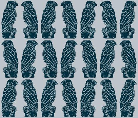 Maltese Falcon - film noir fabric by elramsay on Spoonflower - custom fabric