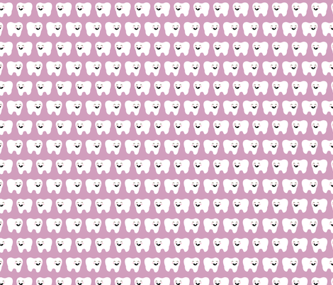 Tooth's Toof: Lovely Lilac fabric by nadiahassan on Spoonflower - custom fabric