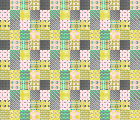 Ronnie and Delia Patched fabric by lisabarbero on Spoonflower - custom fabric