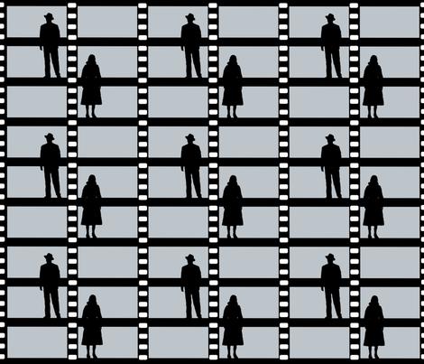 Film Noir fabric by diheartss on Spoonflower - custom fabric