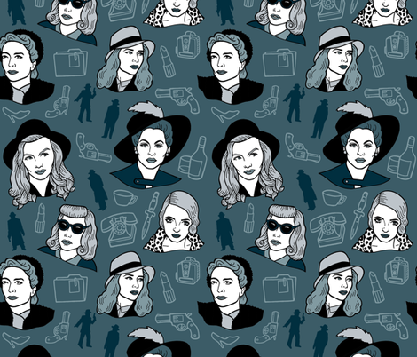 Deadly Dames fabric by bettyturbo on Spoonflower - custom fabric