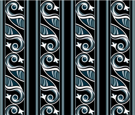 noir_pattern02 fabric by l_tatyana on Spoonflower - custom fabric