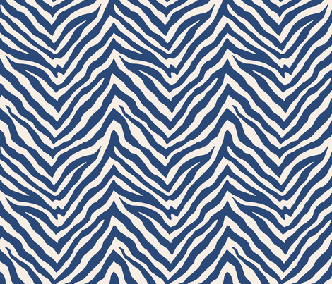 Zebra in Navy fabric by willowlanetextiles on Spoonflower - custom fabric