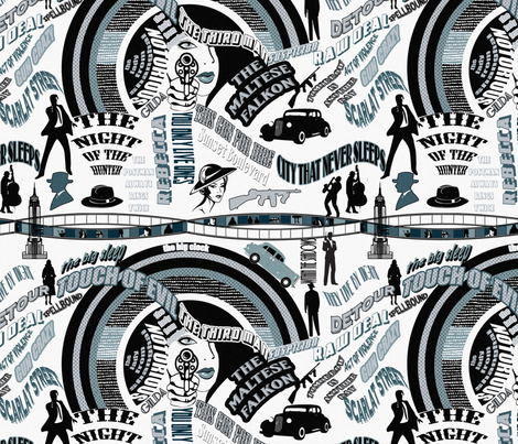 The Top 25 Film Noir Movie fabric by miss_pipi on Spoonflower - custom fabric
