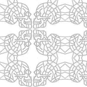 Spiked Skull Map (design 2)