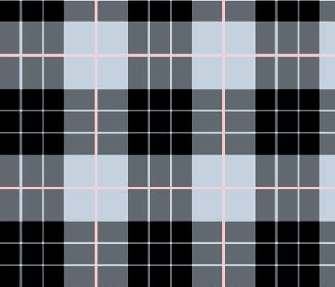 Versailles Fog Plaid ~ Blackmail fabric by peacoquettedesigns on Spoonflower - custom fabric