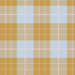 Versailles Fog Plaid ~ Gilt