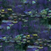 Claude Monet ~ Waterlilies ~ At Night