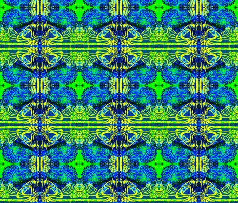Floral Fantasy-green/blue fabric by guylas_coastal_creations on Spoonflower - custom fabric