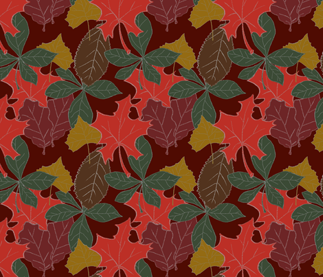 Leaves of Fall fabric by arts_and_herbs on Spoonflower - custom fabric