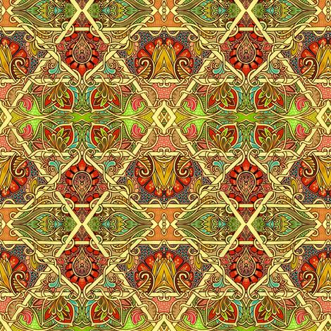Golden Diamond Patchwork fabric by edsel2084 on Spoonflower - custom fabric