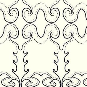 Persian Print on Cream