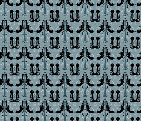 Film Noir Damask - Light fabric by twoifbyseastudios on Spoonflower - custom fabric