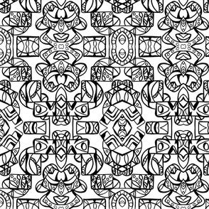Intrinsic Tribe Design 1 Blk/Wht