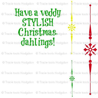 tequila_diamonds' Christmas Diamonds - Veddy Stylish!