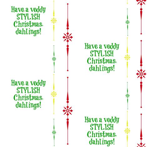tequila_diamonds' Christmas Diamonds - Veddy Stylish! fabric by tequila_diamonds on Spoonflower - custom fabric