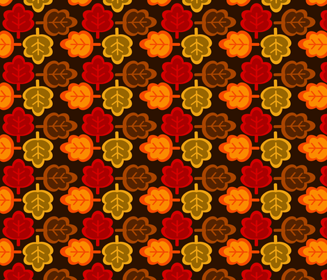 When Autumn Leaves 2 fabric by tessa's_textile_designs on Spoonflower - custom fabric