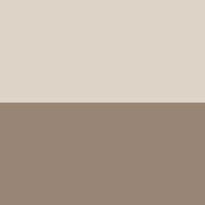 Linen Beige and Mocha XL Stripes