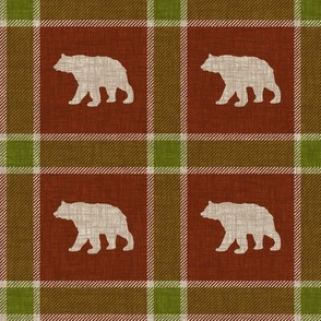 Bear Plaid - holiday