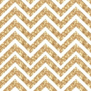 Glitter GOLD Chevron Sparkly Stripes ZIG ZAG Paris Bebe Medium