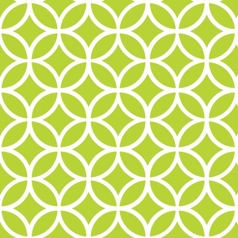 Apple Green Geometric Diamonds fabric by sweetzoeshop on Spoonflower - custom fabric