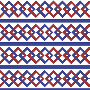 red and blue square