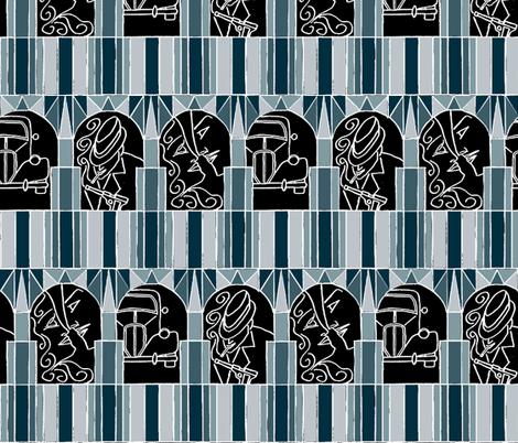 Film Noir Deco Style fabric by ms_majabird on Spoonflower - custom fabric