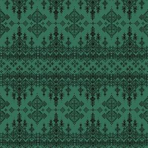 Harquu Stripe in Amazon Green