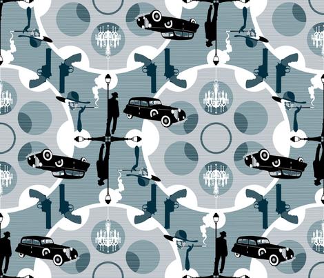 Julie's Film Noir fabric by juliesfabrics on Spoonflower - custom fabric