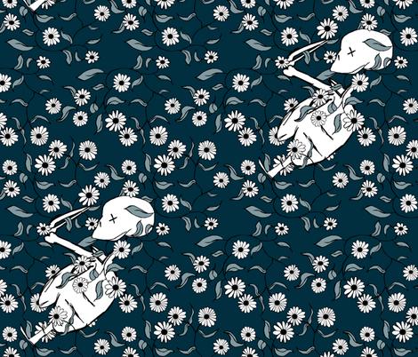 Lovely Bones fabric by pond_ripple on Spoonflower - custom fabric