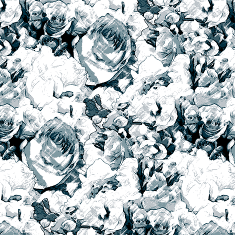 A Subtle Scent of Roses fabric by inscribed_here on Spoonflower - custom fabric