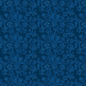 Prussian Blue Brocade