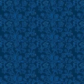 Prussian Blue Brocade