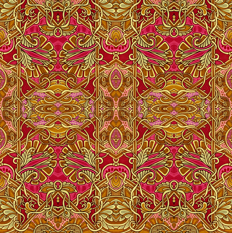 Channeling William Morris part 2 fabric by edsel2084 on Spoonflower - custom fabric
