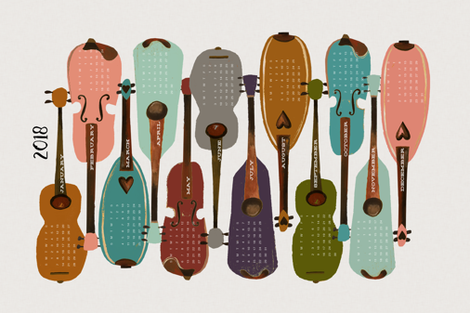 2018 Instrument Collection - Modern fabric by andrea_lauren on Spoonflower - custom fabric