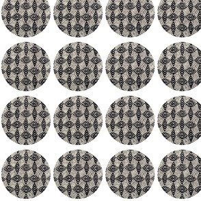 Woven dots for sofa 1