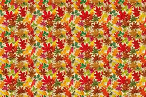 Autumn leaves fabric by cassiopee on Spoonflower - custom fabric