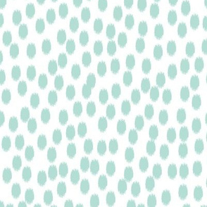 Mint and White Scattered Dots