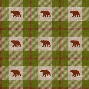 Bear Plaid - forest