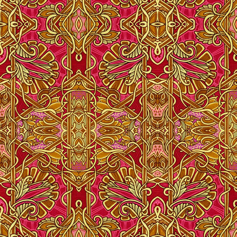 The Thistle and the Paisley Curl  fabric by edsel2084 on Spoonflower - custom fabric