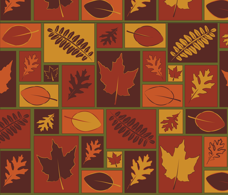 Blocks of Autumn fabric by 27elements on Spoonflower - custom fabric