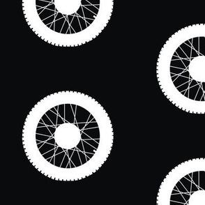 Motorcross Wheel Black & White